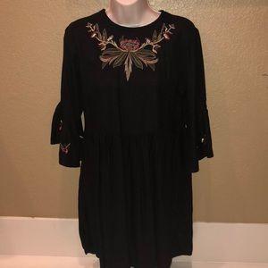 Zara black empire waist dress